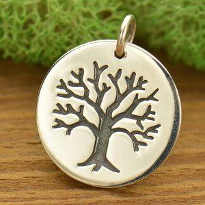 Tree pendants carolinabeadshop sterling silver etched tree pendant c728 aloadofball Choice Image