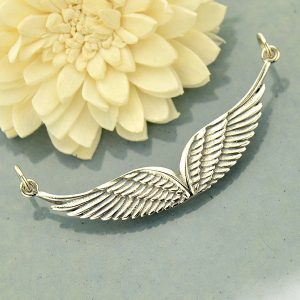 Double Angel Wing Link Pendant - C1776, Necklace Link