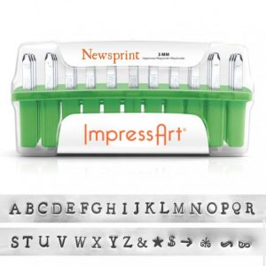 ImpressArt Newsprint, 3mm Character, Complete Set - Stamping Tools