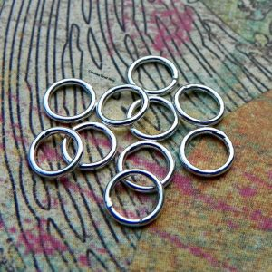 6mm  20ga Closed  Jump Rings (10PK) - Findings, Closed Rings, Sterling Silver