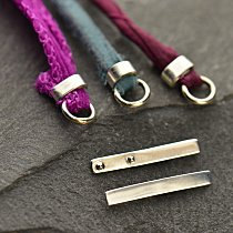 Sterling Silver Crimp for Leather - 10 PK - Closure, Clasps, Findings, Crimp