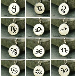 Zodiac Charms- Stars, Sky, Astrology, Birthday, Stamped Charms, C1135 - C1146