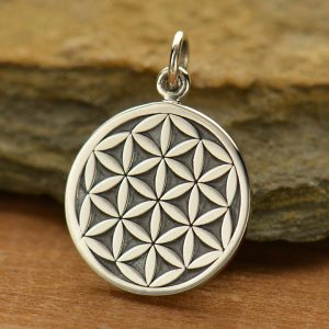 Sterling Silver Flower of Life Charm - C1509, Zen Yoga, Flower, Symbolic Charm, Spirit