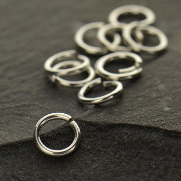 6mm 20ga Open Jump Rings - BULK DISCOUNTS, Jewelry Supplies, Findings
