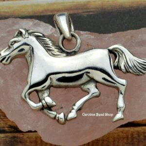 Sterling Silver Horse Pendant - C082, Pet Charms, Western, Animals