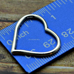 Heart Charm Link - 10PK Open Heart Charms, Links, Fashion Jewelry Supplies
