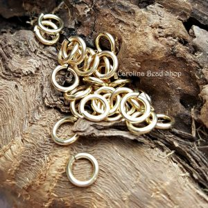 5.8mm Brass 18ga Open Jump Rings (10PK,25PK,50PK,100PK) -Findings, Jewelry Supplies